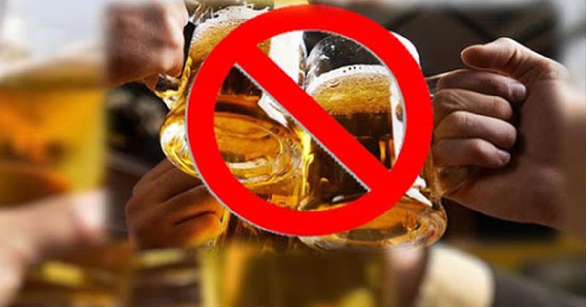 không nên uống bia rượu