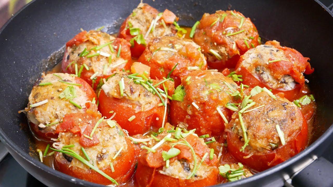 Món ăm từ thịt và cà chua