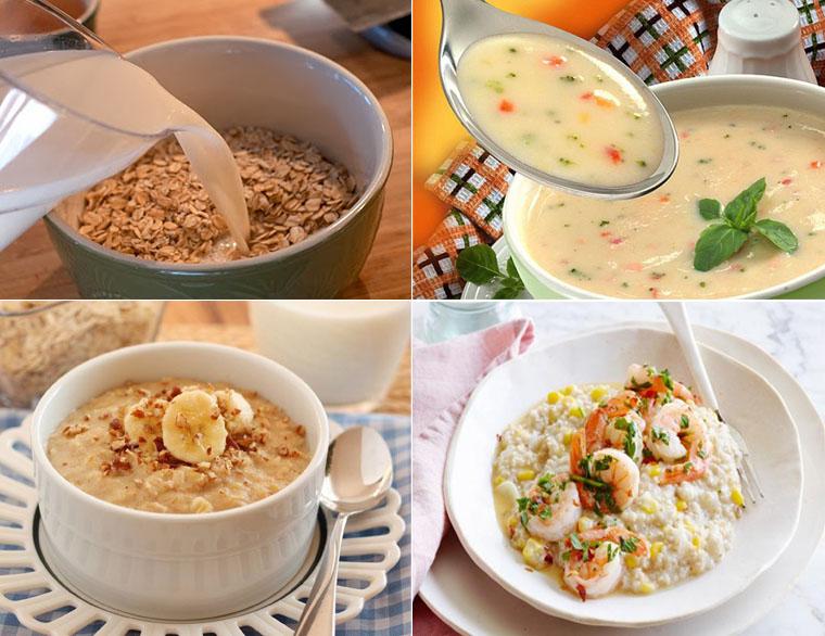 Dùng ngũ cốc để nấu cháo dinh dưỡng