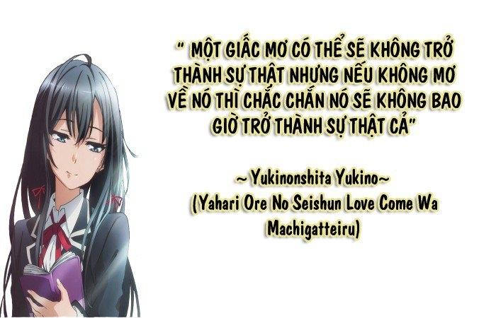 Câu nói của Yukinoshita Yukino